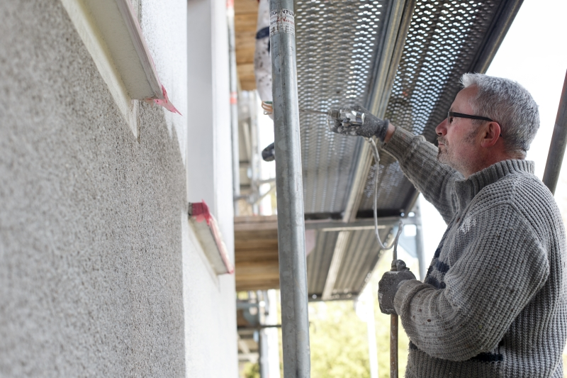 Fassadengestaltung  durchgeführt von einem Mitarbeiter des Malerbetrieb Bönninger Dortmund.